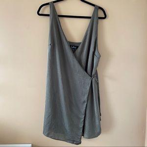 Lulus Olive Wrap Dress